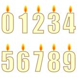 Numbered birthday candles Stock Photo