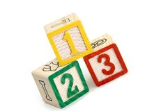 Numbered building blocks Stock Image