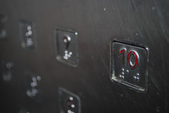 Numbered buttons Stock Photos