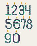 Numbered candles Stock Photo