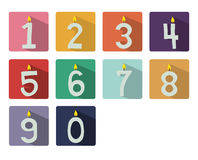 Numbered candles Royalty Free Stock Photography
