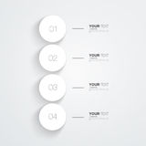 Numbered circles infographic design with your text. And light background Eps 10 vector illustration Royalty Free Illustration