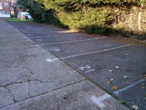 Designated parking spaces Royalty Free Stock Images