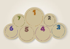 Numbered design template Stock Photography