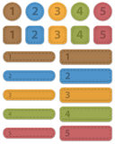 Numbered design templates. Made of leather. Vector illustration stock illustration