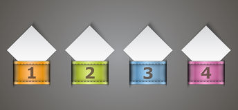 Numbered design templates Stock Images
