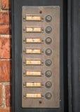 Numbered Door Bells Royalty Free Stock Photos