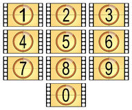 Numbered filmstrips. Isolated in old style Stock Photography