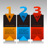 Numbered Info Banners Stock Image