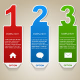 Numbered Info Banners Royalty Free Stock Photography