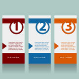 Numbered Info Banners Royalty Free Stock Photo