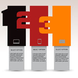 Numbered Info Banners Royalty Free Stock Image
