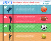Numbered Information Sport Banner Vector Design Royalty Free Stock Image