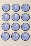 Numbered keypad. With blue buttons Royalty Free Stock Images