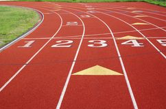 Free Numbered Lanes On A Track. Royalty Free Stock Images - 4630799