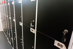 Numbered lockers Royalty Free Stock Images