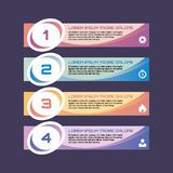 Numbered option banners - vector business concept for infographic, presentation, booklet, website and other design projects. Infographic template. Design Royalty Free Stock Image