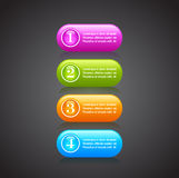 Numbered option buttons stock illustration