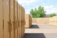 Self storage facility royalty free stock photos