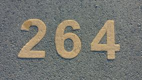 Numbered parking spot Stock Photos