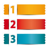 Numbered ribbons Royalty Free Stock Images