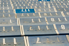 Numbered Seats Royalty Free Stock Images