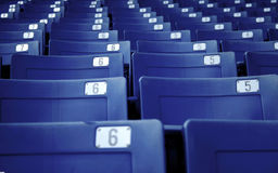 Numbered seats Stock Photo