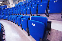 Numbered seats in row Stock Photography