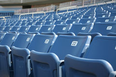 Numbered seats in a stadium Royalty Free Stock Photos