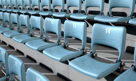 Numbered Stadium Seats Royalty Free Stock Image