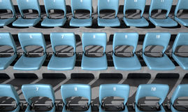 Numbered Stadium Seats Royalty Free Stock Photo