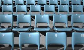 Numbered Stadium Seats Stock Image