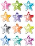 Numbered stars Stock Photo