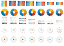 35 numbered Templates for Infographics 3,4,5,6, 7, 8, 9 position Royalty Free Stock Image