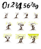 Numbering growing Royalty Free Stock Photo