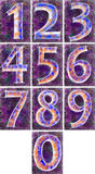 Numbering on a violet background. Stock Images