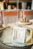 Numbering of wedding tables Royalty Free Stock Photography