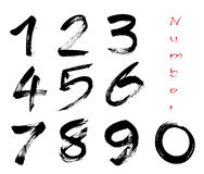 Numbers 0-9 EPS Royalty Free Stock Photos