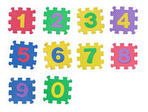 Numbers 0 to 9 Royalty Free Stock Photo