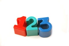 Numbers 1, 2 and 3 Stock Photo
