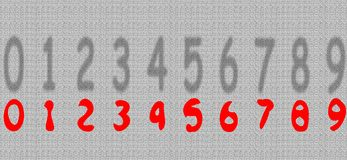 Numbers. Isolated against a gray background Royalty Free Stock Photography