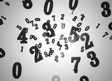 Numbers. Illustration of black numbers on grey background Stock Photography