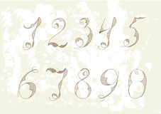 Numbers. Universal template for greeting card, web page, background Royalty Free Stock Photos