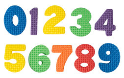 Numbers. Colorful numbers isolated on white background royalty free stock image