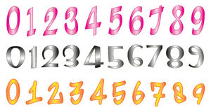 Numbers. Simple illustration of numbers on white background Royalty Free Stock Image