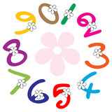 Numbers. Illustration of numbers on white background Royalty Free Stock Images