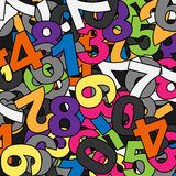 Numbers. Lot of numbers and lot of colours Stock Image