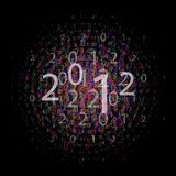 Numbers 2012, vector Royalty Free Stock Image