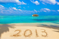 Numbers 2013 on beach Stock Photography