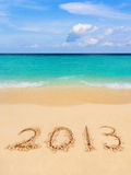 Numbers 2013 on beach Royalty Free Stock Photos